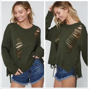 Sweaters - Distressed Sweater • 3 colors✨Add a tank top!